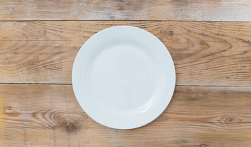 Small empty plate