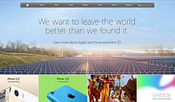 Small larger apple we want to leave the world a better place